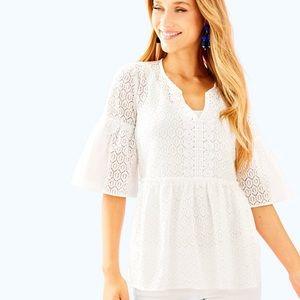 3c04775cfbc4e ... Lilly Pulitzer Inez Top - Resort White ...
